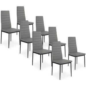 Lot de 8 chaises grises achat vente lot de 8 chaises - Lot de 8 chaises pas cher ...