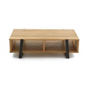 Table bois 120 allonges achat vente table bois 120 for Table basse chene metal