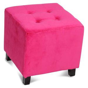 pouf rose achat vente pouf rose pas cher les soldes. Black Bedroom Furniture Sets. Home Design Ideas