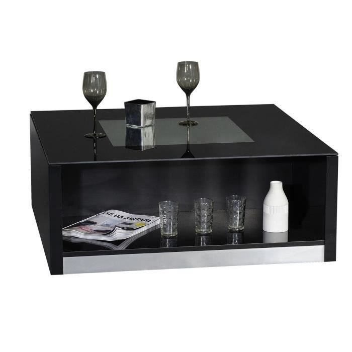vertigo table basse 90 cm laqu e noire achat vente. Black Bedroom Furniture Sets. Home Design Ideas