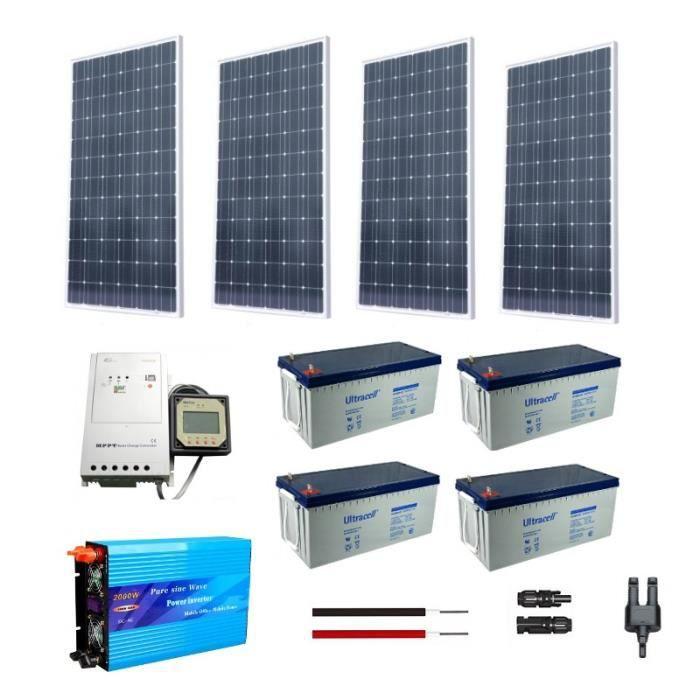 kit solaire autonome 1kw 230v achat vente kit photovoltaique soldes d hiver d s le 6. Black Bedroom Furniture Sets. Home Design Ideas