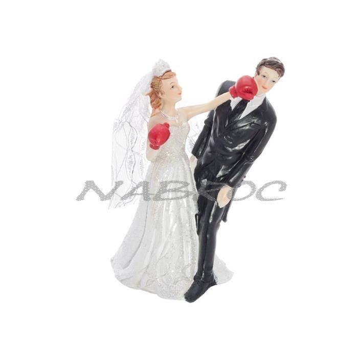 Mariage figurine sujet pi ce mont e g teau boxe achat for Service de boxe de mariage
