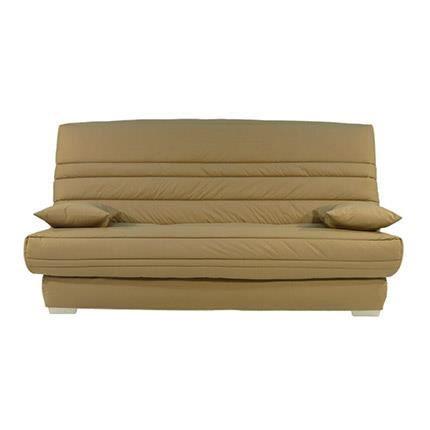 banquette lit clic clac 130cm 30kg taupe achat vente. Black Bedroom Furniture Sets. Home Design Ideas