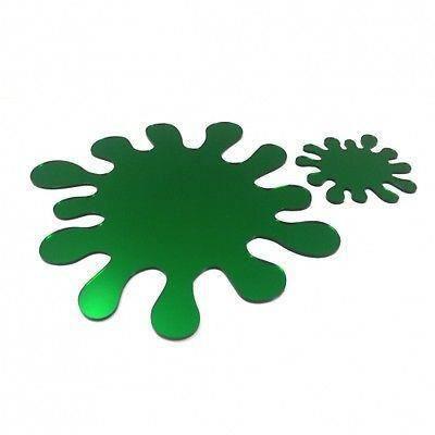 4 verts napperons miroir claboussures et sous ver achat for Miroir acrylique incassable