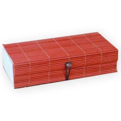 Bo te bambou rectangle rouge achat vente boites de for Maison rouge boite de nuit