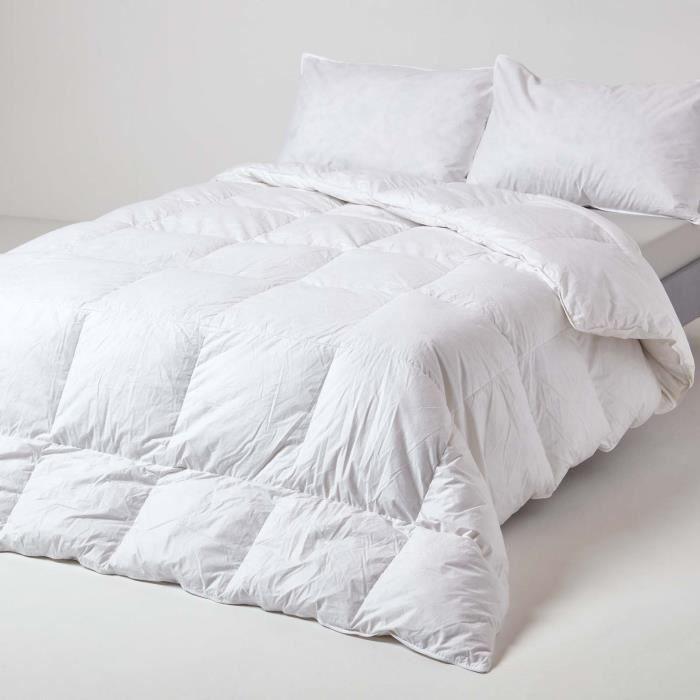 couette 260 x 220 cm duvet et plumes de canard 875 g m achat vente couette cadeaux de. Black Bedroom Furniture Sets. Home Design Ideas