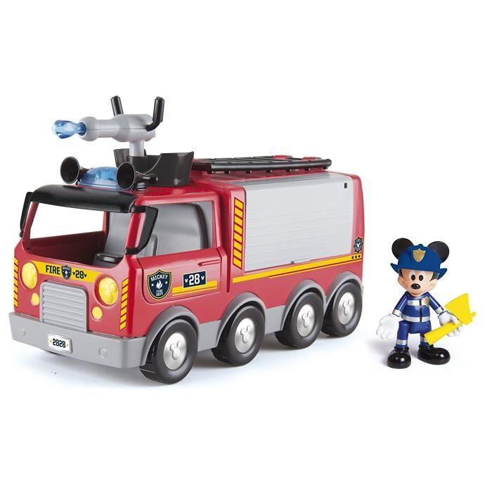 Camion de pompiers mickey de mattel - Camion pompier cars ...
