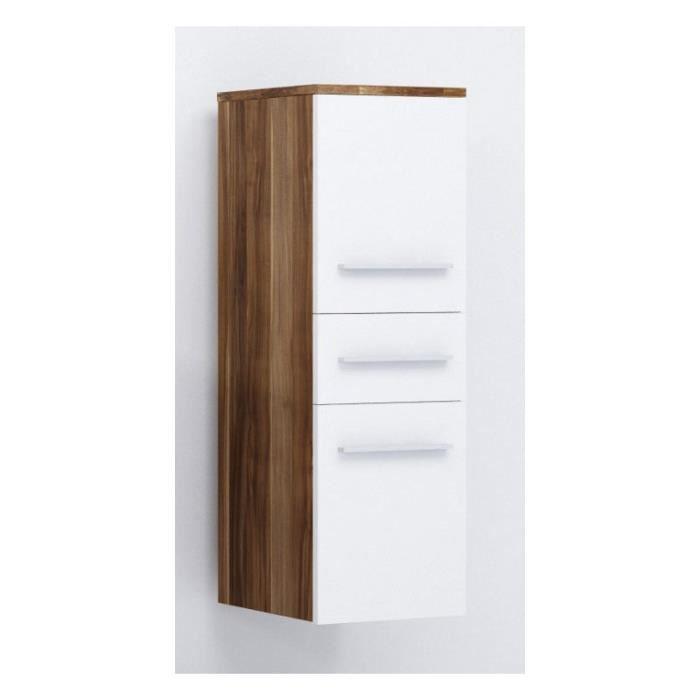 justhome lupo armoire murale suspendue de salle de bain en bois de prune blanc mat 92 x 30 x. Black Bedroom Furniture Sets. Home Design Ideas