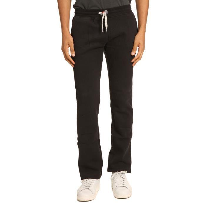 pantalon de jogging droit noir straight pour homme noir achat vente pantalon cdiscount. Black Bedroom Furniture Sets. Home Design Ideas