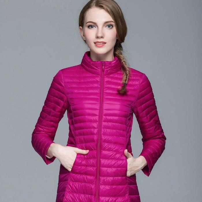 femme mode doudoune l ger v tement chaud manteau d 39 hiver amincissant veste down coat cerise. Black Bedroom Furniture Sets. Home Design Ideas