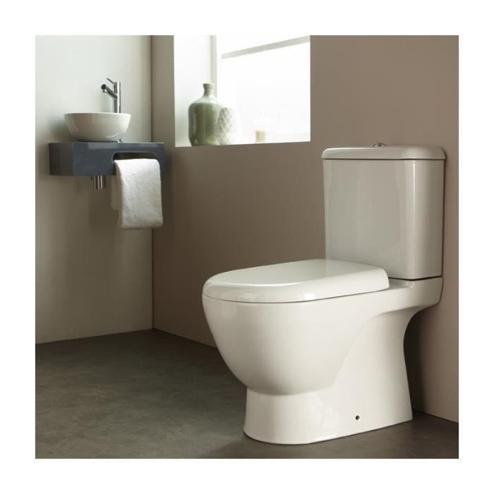 pack wc poser en porcelaine blanc achat vente wc toilette bidet pack wc poser. Black Bedroom Furniture Sets. Home Design Ideas