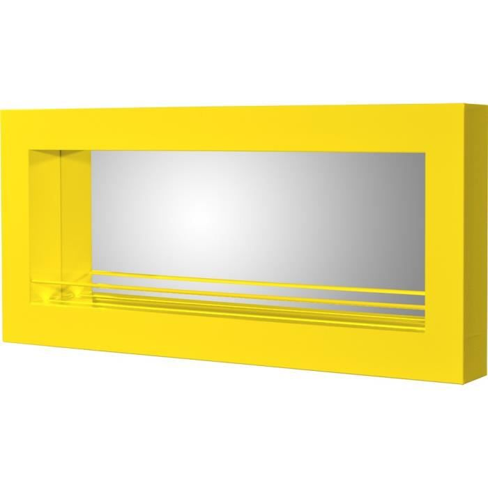 Bar mural swithome james laqu jaune achat vente for Meuble mural jaune