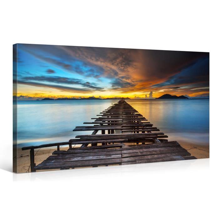 Tableau sur toile le paradis 100x50cm achat vente for Tableau impression sur toile