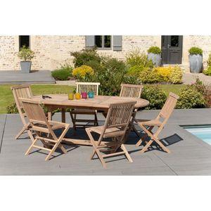 Ensemble table et chaises de jardin teck achat vente - Ensemble jardin teck ...