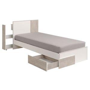 tete de lit avec rangement 90cm achat vente tete de lit avec rangement 90cm pas cher. Black Bedroom Furniture Sets. Home Design Ideas