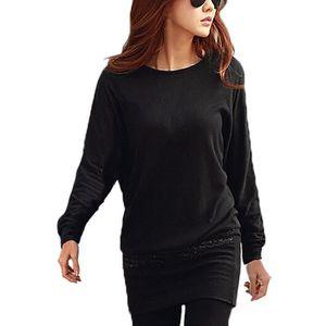 pull tunique longue femme achat vente pull tunique longue femme pas cher cdiscount. Black Bedroom Furniture Sets. Home Design Ideas