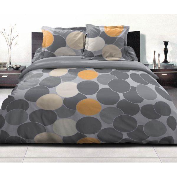 housse de couette 220x240cm 2 taies d oreiller 63x63 cm cocktail sorbet42 fils ut achat. Black Bedroom Furniture Sets. Home Design Ideas