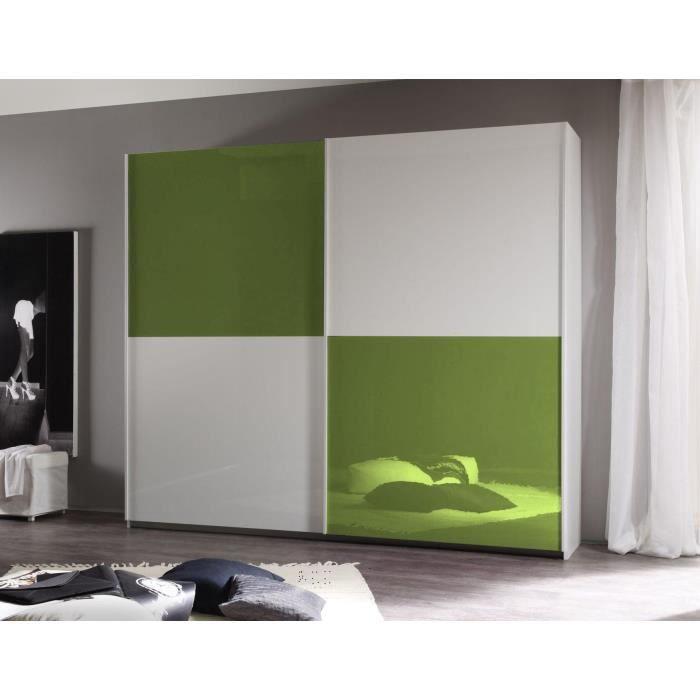 Armoire Chambre Verte : Armoire coulissante verte l cm h stor g achat