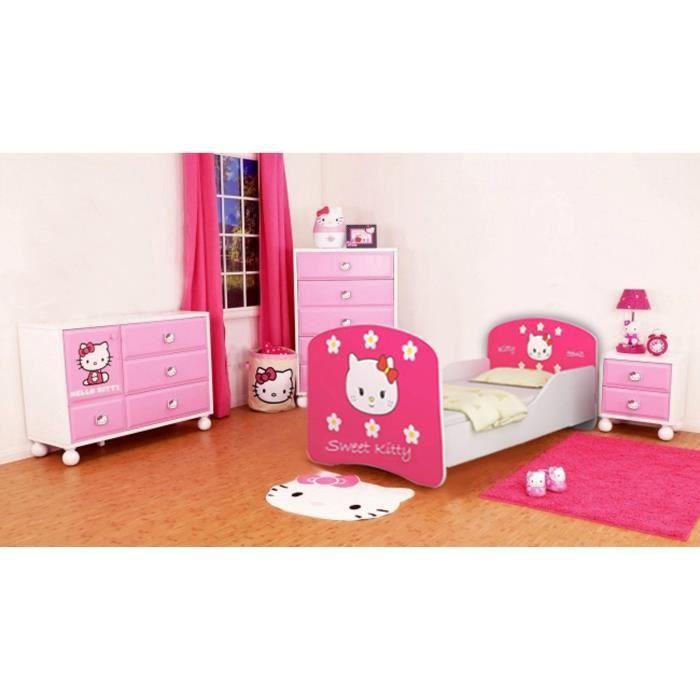 lit enfant sweetkitty sommier matelas 140x70 cm. Black Bedroom Furniture Sets. Home Design Ideas