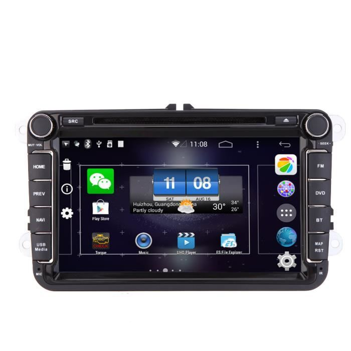 8 android4 4 syst me hd ecran tactile 2 din voiture dvd usb sd lecteur 3g wifi bluetooth gps. Black Bedroom Furniture Sets. Home Design Ideas