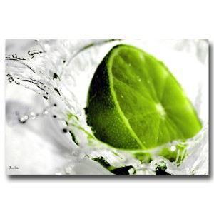 Tableau d co cuisine citron vert 55 x 80 cm achat vente tableau toile - Tableau decoration cuisine ...