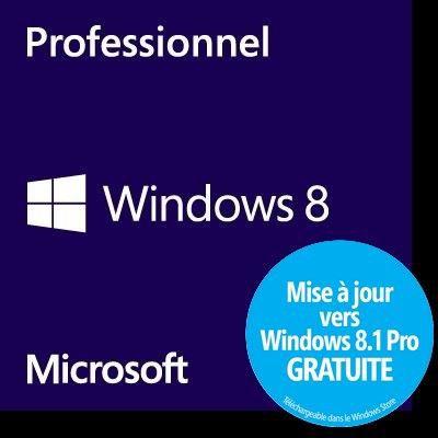 SYSTÊME D'EXPLOITATION Windows 8 Professionnel OEM 32 bits
