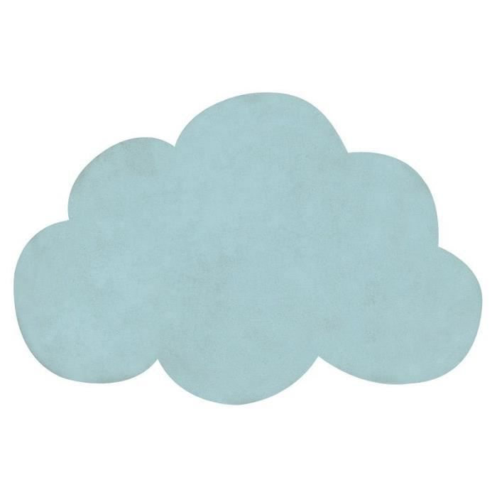 tapis enfant coton nuage vert menthe vert achat vente tapis cdiscount. Black Bedroom Furniture Sets. Home Design Ideas