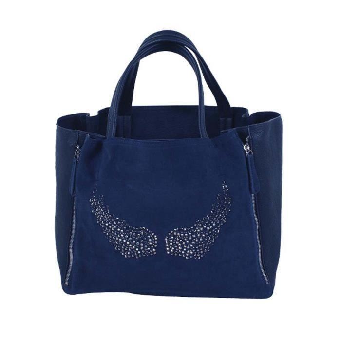 Grand sac à main ailes d'ange strass bleu marine - Vraiment TOP ce ...