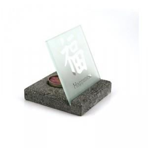 Sun d'koh - Bougeoir en pierre Happiness - 12 cm