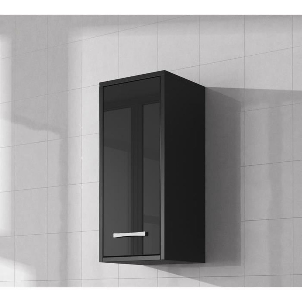 meuble de salle de bain noir brillant salle de bain noire