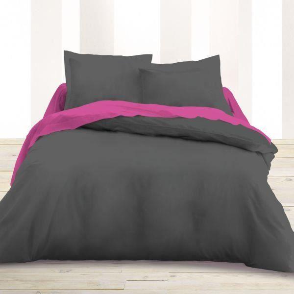 housse de couette 220x240cm unie couleur canon de fusil achat vente housse de couette les. Black Bedroom Furniture Sets. Home Design Ideas