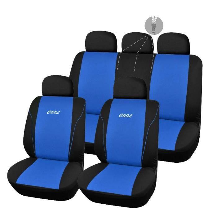 housse pour siege de voiture fractionnable bleu et noir cool ouverture 2 3 1 3 achat vente. Black Bedroom Furniture Sets. Home Design Ideas