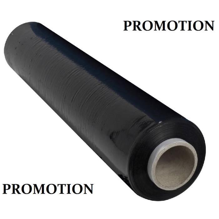 Film palette rouleau etirable noir 45 de largeur achat Rouleau pour bache a bulle