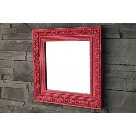 Miroir baroque rouge achat vente miroir cdiscount for Miroir rouge