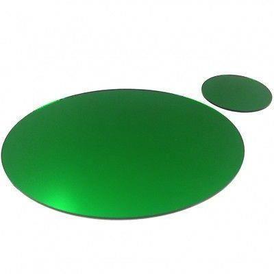 4 napperons ovales miroir vert et sous verre achat for Miroir 40x150