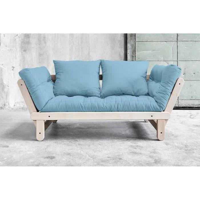 Futon bleu achat vente futon bleu pas cher cdiscount - Banquette futon pas cher ...