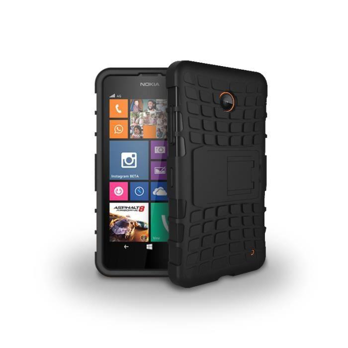 coque nokia lumia 630 635 moonmini housse coque hybride combo avec la fonction de station noir. Black Bedroom Furniture Sets. Home Design Ideas