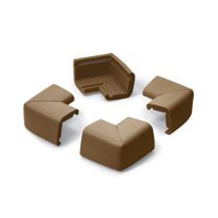 4 coins de table petit mod le coloris chocolat achat vente prot ge coins arretes. Black Bedroom Furniture Sets. Home Design Ideas