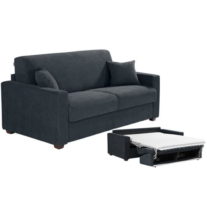 canap convertible milano tissu gris 120x190 achat vente canap sofa divan tissu. Black Bedroom Furniture Sets. Home Design Ideas
