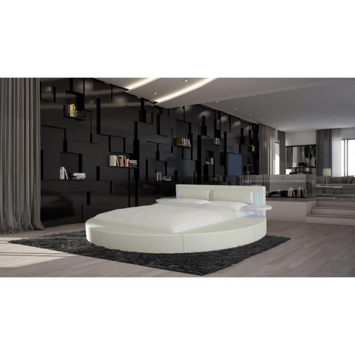 disponible en diff rentes couleurs et propos en quatre tailles vonn est un lit rond lumineux. Black Bedroom Furniture Sets. Home Design Ideas