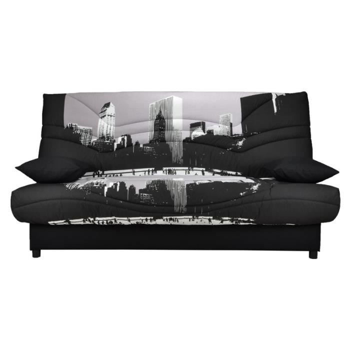clic clac avec matelas 20 cm achat vente clic clac avec matelas 20 cm pas cher les soldes. Black Bedroom Furniture Sets. Home Design Ideas