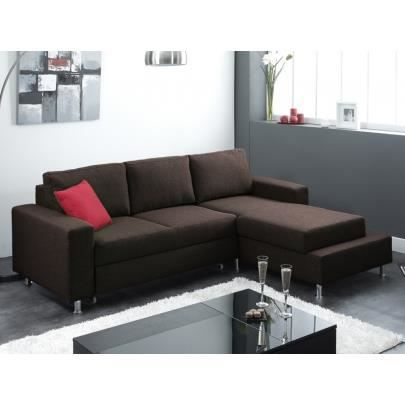 Canap d 39 angle convertible en tissu anthony choc achat for Canape d angle convertible en tissu
