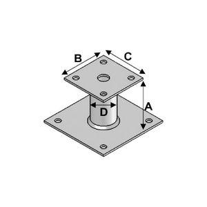 platine poteau achat vente platine poteau pas cher cdiscount. Black Bedroom Furniture Sets. Home Design Ideas