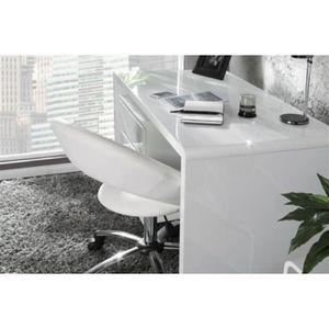 bureau laque blanc achat vente bureau laque blanc pas cher cdiscount. Black Bedroom Furniture Sets. Home Design Ideas