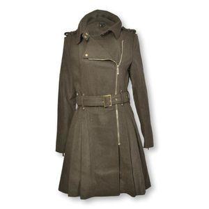 MANTEAU - CABAN Manteau en drap de laine femme kaki B.YOUNG