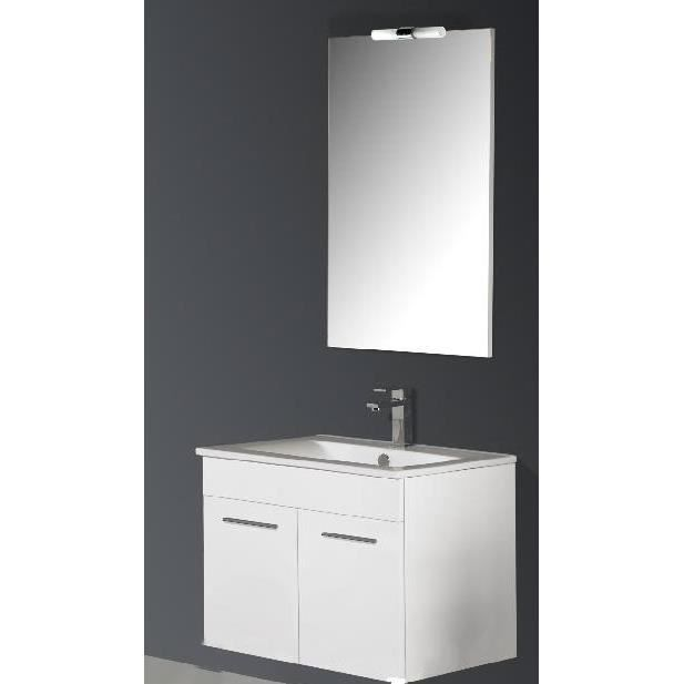 Ensemble suspendu meuble et vasque sonia achat vente salle de bain comple - Dimension meuble vasque ...
