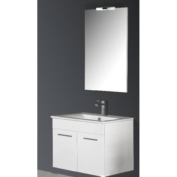 Ensemble suspendu meuble et vasque sonia achat vente salle de bain comple - Meuble vasque suspendu ...