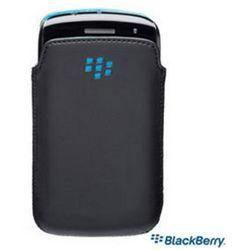 Etui pocket slim en cuir noir pr blackberry curve achat for Housse blackberry curve