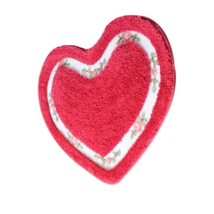 pastorale tapis de bain en forme de coeur en forme de coeur 50x60cm achat vente tapis de. Black Bedroom Furniture Sets. Home Design Ideas
