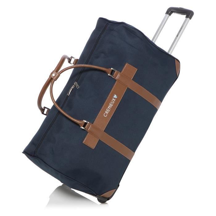 daniel cremieux sac de voyage roulettes 72 cm marine marine achat vente sac de voyage. Black Bedroom Furniture Sets. Home Design Ideas